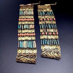 Vintage Egyptian Revival Bracelet Pair